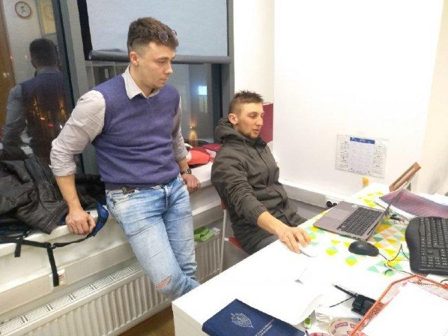 Ростислав Богушевский и Андрей Дубровский.  Фото из архива героя.